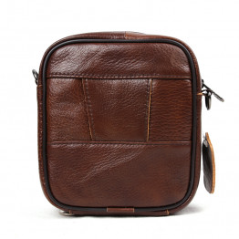 100% top cow genuine leather versatile casual shoulder men messenger bags for men leather handbags mini bag brown