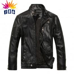 2017 autumn new goods men's leather jacket Jaqueta COURO Masculina bomber sheepskin coats men's casual leather jacket M-XXXL