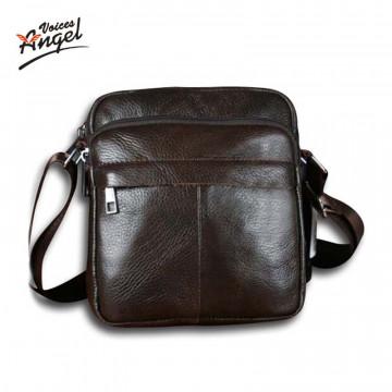 Angel Voices! Hot sale New fashion genuine leather men bags small shoulder bag men messenger bag crossbody leisure bag XP49132646588315