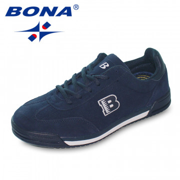 BONA New Classics Style Men Casual Shoes Lace Up Suede Leather Men Shoes Comfortable Men flats Shoes Soft Light Free Shipping32605561212