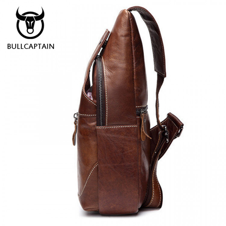 d042dc22d3a BULL CAPTAIN 2017 Fashion Genuine Leather Crossbody Bags men casual messenger  bag Small Brand Designer Male Shoulder Bag 019Leather Bags