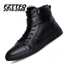 Big Size 36-48 Winter Add Fur men boots Top quality handsome comfortable brand genuine leather boots K354