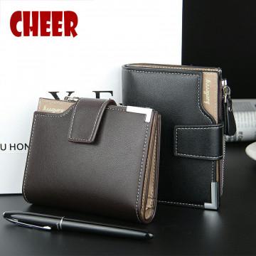 Brand wallet Fashion leather Men Wallet coin pocket zipper portfolio Handy luxury Short purse3 Fold Male Purses Cards wallets