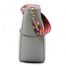 DAUNAVIA Luxury Brand Designer Bucket bag Women Leather Wide Strap Shoulder bag Handbag Large Capacity Crossbody bag Color 5