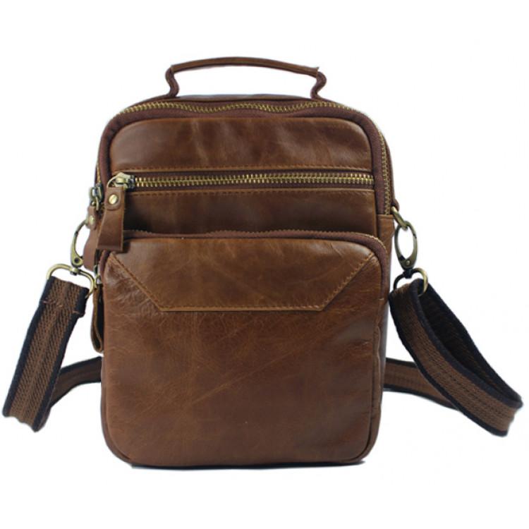 a6e3c94b78f4 Fashion Crossbody bag Genuine Leather Men shoulder bag Leather men  messenger bag male Leisure bag small Sling Handbag tote BrownLeather Bags