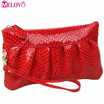 Fashion Serpentine Women's Day Clutch Genuine Leather Handbags Coin Purse Mobile Phone Bag Clutch Bag iphone Case JJY068519925180