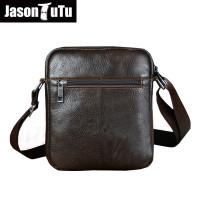 Genuine Leather Men Shoulder Bags New Fashion Hot Male Handbag Small Crossbody Messenger Bag Travel Bolsa Brown Men's Satchels