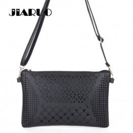 JIARUO Vintage Hollow Out Flower Envelope Bag Small Women Leather Crossbody bag Shoulder bag Messenger bag Clutch Handbag Purses