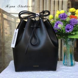 Newest  MANSURSTUDIOS bucket bag mansur women genuine leather shoulder bag  lady real leather  cross bag, free shipping