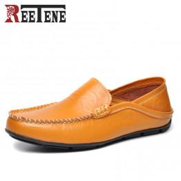 Plus Size 45 46 Genuine Leather Men Loafers Autumn Comfortable Casual Shoes Men, Fashion Men Shoes Driving Flats Shoes