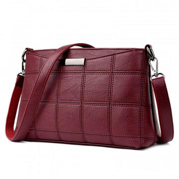 Women Genuine Leather Plaid Messenger Bags Sac a Main Shoulder Bags Women Crossbody Bag Ladies High Quality Sheepskin Handbags32812466416