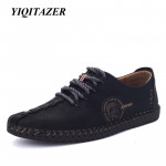 YIQITAZER 2017 New Arrival Nubuck Leather Shoes Man,Lace Fashion Summer Brand Dress Mens Shoes Yellow Black Size 6.5-9.5