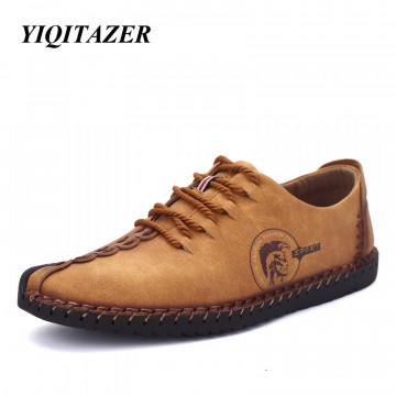 YIQITAZER 2017 New Arrival Nubuck Leather Shoes Man,Lace Fashion Summer Brand Dress Mens Shoes Yellow Black Size 6.5-9.532718281772